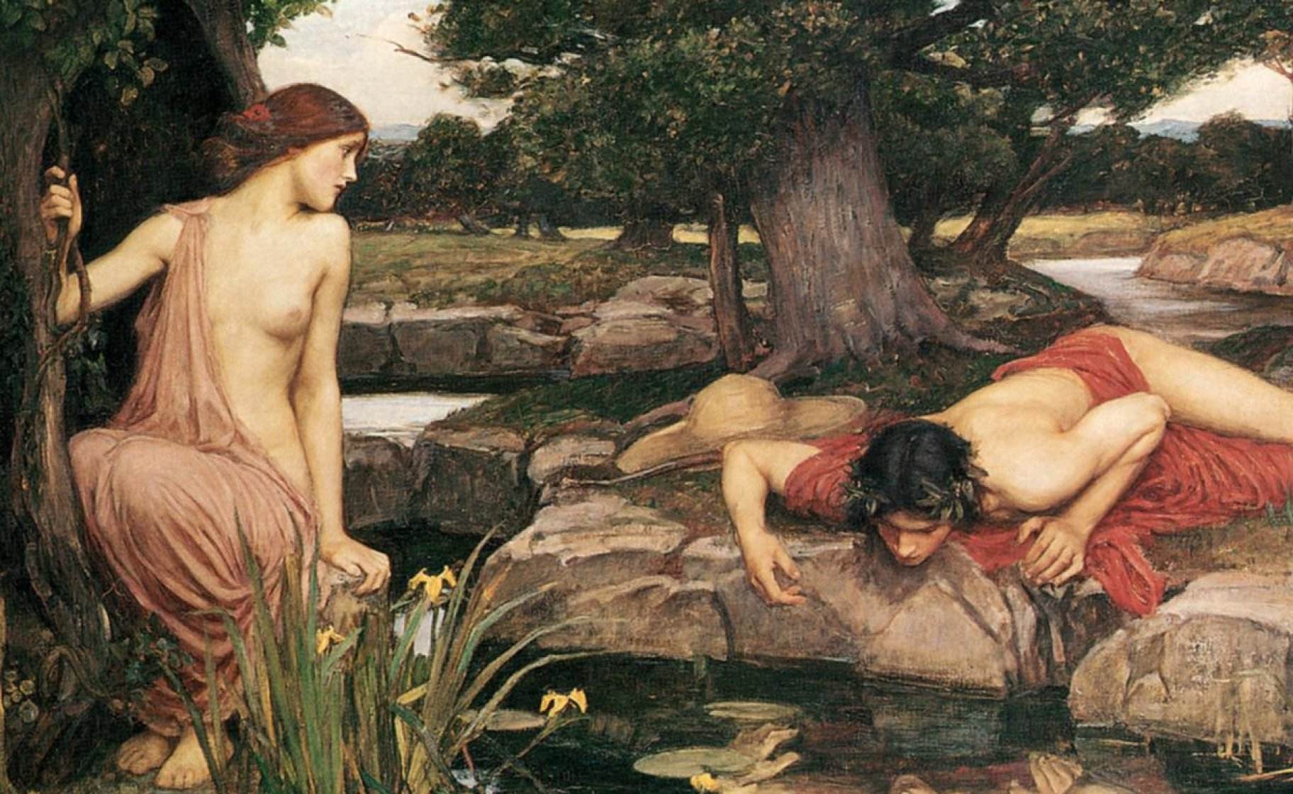 'Echo and Narcissus' (detail), 1903, John William Waterhouse