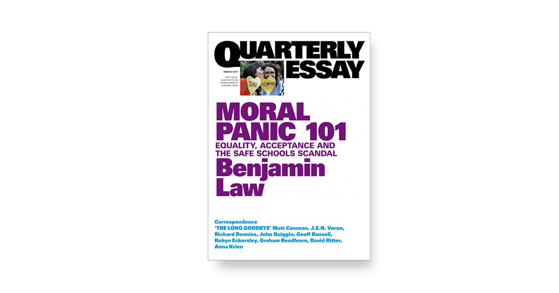 moral panic the monthly equality acceptance and the safe schools scandal a quarterly essay extract