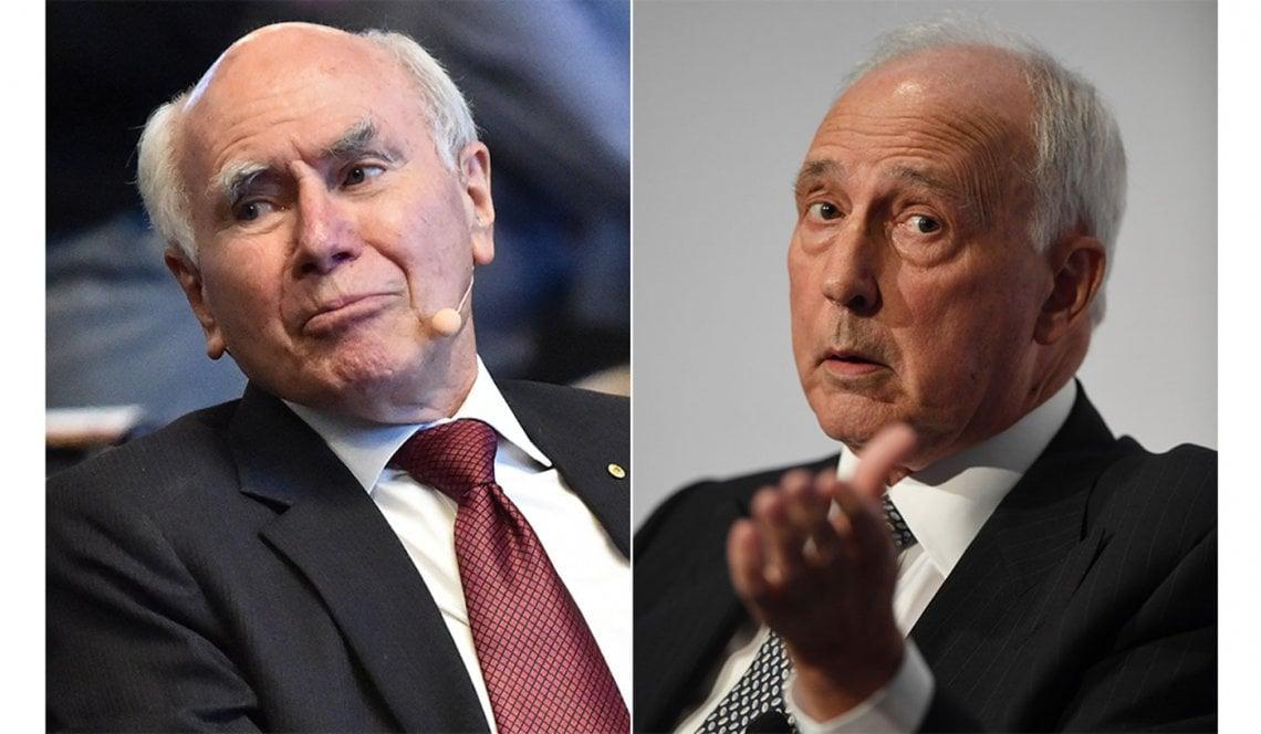 Image of former prime ministers John Howard and Paul Keating