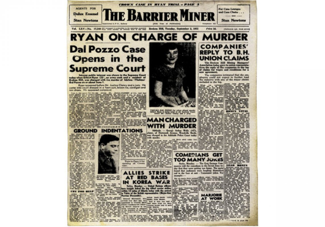 The Broken Hill 'Barrier Miner', 2 September 1952. Image courtesy of the National Library of Australia.