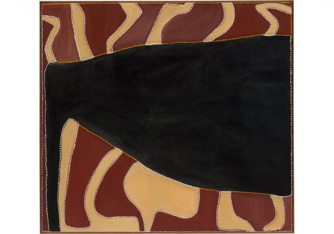 'Cyclone Tracy', Rover Thomas, 1991. Image courtesy of the National Gallery of Australia.