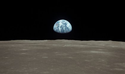 Pale blue dot. Image of Earth from the Moon
