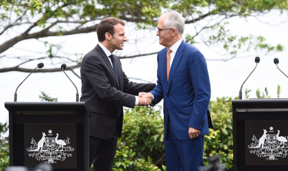 Image of Malcolm Turnbull and Emmanuel Macron