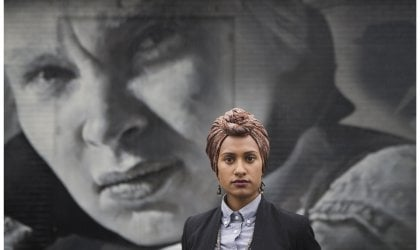 Shen Narayanasamy in the streets of Collingwood, Melbourne.