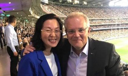 Image of Member for Chisholm Gladys Liu and Prime Minister Scott Morrison