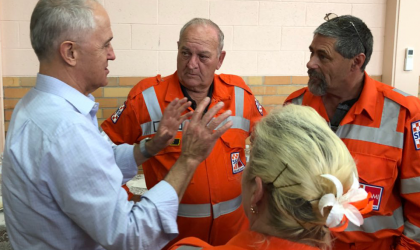 Image of Malcolm Turnbull with SES