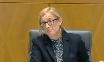 Image of Senator Katy Gallagher during Senate estimates. Image via Twitter