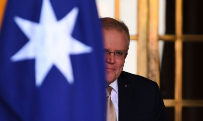 Image of Scott Morrison arriving at Parliament House on July 30, 2020.