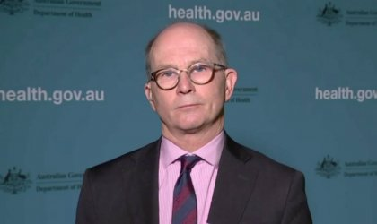 Image of Chief Medical Officer Paul Kelly. Image via ABC News