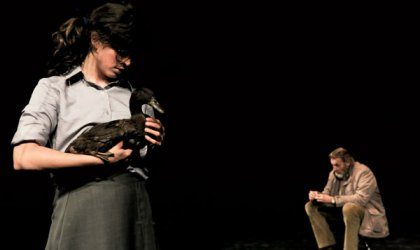 Eloise Mignon and Anthony Phelan in the Stone-directed 2011 Belvoir production of 'The Wild Duck'. © Heidrun Lohr