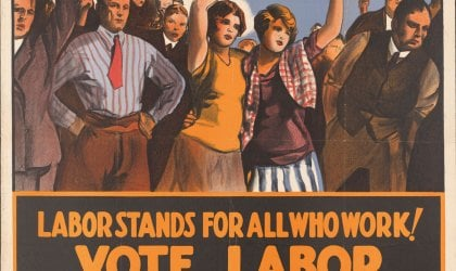 Campaign poster for the NSW Labor Party, circa 1928. Courtesy of the National Library of Australia