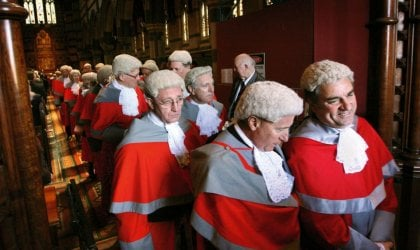 Supreme Court Judges in full regalia. © Penny Stephens/Fairfax Syndication