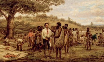 John Burtt, 'Batman's Treaty with the Aborigines at Merri Creek, 6th June 1835', c.1875. Image courtesy of the State Library of Victoria.