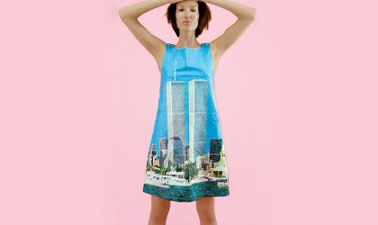 'Modern Love: Fashion visionaries from the FIDM Museum LA' . Sarah Caplan's World Trade Center dress