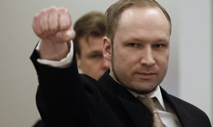 Mass murderer Anders Breivik on trial. © Frank Augstein / AP
