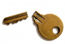 Grandfathering the Australian dream. Image of a broken key
