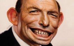 Portrait of Tony Abbott by Neil Moore