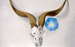 Image of Ram's Head, Blue Morning Glory by Georgia O'Keefe