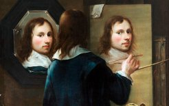 The pencil and the damage done. Self-portrait with Easel and Mirror (1646), by Johannes Gumpp