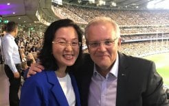 Image of Member for Chisholm Gladys Liu and Prime Minister Scott Morrison