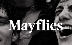 Cover detail of Andrew O'Hagan's 'Mayflies'