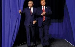 Image of Scott Morrison and Donald Trump