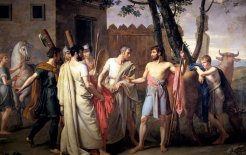 Cincinnatus Abandons the Plow To Dictate Laws in Rome (1806), by Juan Antonio Ribera