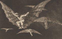 Image of Francisco José de Goya y Lucientes, 'A way of flying' (c. 1819–1824)