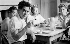 "Photo: ""Breakfast at Heide"" (from left: Sidney Nolan, Max Harris, Sunday Reed and John Reed), circa 1945"