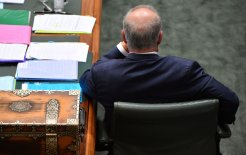 Image of Prime Minister Scott Morrison during Question Time yesterday. Image © Mick Tsikas / AAP Image