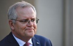 Prime Minister Scott Morrison at a press conference at Kirribilli House on July 16. Image © Mick Tsikas / AAP Image