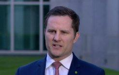 Image of Immigration Minister Alex Hawke. Image via ABC News