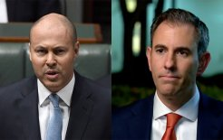 Composite image of Treasurer Josh Frydenberg (image via Twitter) and shadow treasurer Jim Chalmers (image via Twitter)
