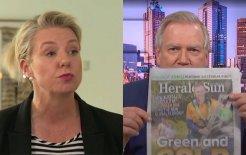 Composite image of Nationals Senate leader Bridget McKenzie (via ABC News) and News Corp presenter Andrew Bolt (via Sky News)