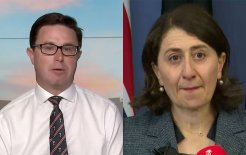 Composite image of Deputy Nationals leader David Littleproud and former NSW premier Gladys Berejiklian. Images via Twitter / ABC News