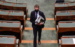 Image of former industry minister Christian Porter in the House of Representatives, August 24, 2021. Image © Mick Tsikas / AAP Image