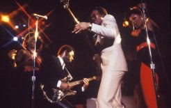 Nile Rodgers (second from left) and Chic, at the Palladium in New York City, 1979. © Waring Abbott / Getty