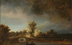 'The Stone Bridge', by Rembrandt Harmensz. van Rijn, c. 1638. Courtesy of the Rijksmuseum