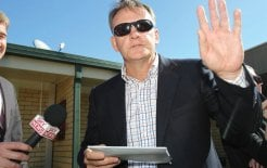 Former Labor leader Mark Latham turned reporter for '60 Minutes', 2010. © Gary Ramage / Newspix / News Limited