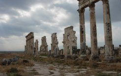 The ruins of the Roman colonnade at Apamea, Syria, 2010. Courtesy of the author.