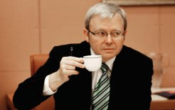 Still ready to served: Rudd's backers refuse to give up agitating for his return © Andrew Taylor/Fairfax Syndication