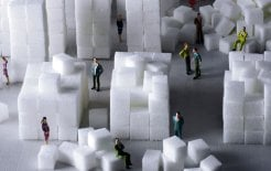 A sugar-cube replica of Rachel Whiteread's Embankment (2005) © The Art Fund