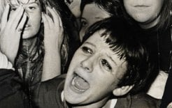 A girl screams for Normie Rowe at his 1967 concert; 500 girls were treated for hysteria during or after the concert. © Summer / Fairfax