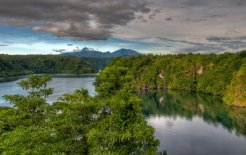 The view from Tufi Dive Resort, overlooking a fjord and out to Mt Trafalgar. © Don Silcock/Indo-Pacific Images