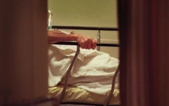 An elderly patient waits in the Emergency Department. © Jason South / Fairfax Sydnication