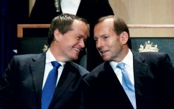 Bill Shorten and Tony Abbott at the opening of parliament, November 2013. © Gary Ramage / Newspix