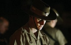 A young soldier at the Anzac Day morning service in Warnambool, Victoria, 2009. © Angela Milne / Fairfax