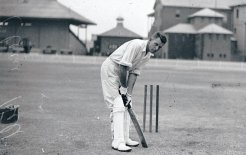 Clement Hill at batting practice, c. 1900. Photos by Sam Hood. Images courtesy of the State Library NSW.