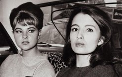 Mandy Rice-Davies and Christine Keeler leave the Profumo trial hearing, 1963. © Hulton-Deutsch Collection