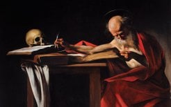 Caravaggio's Saint Jerome, the patron saint of scholars. Wikimedia Commons